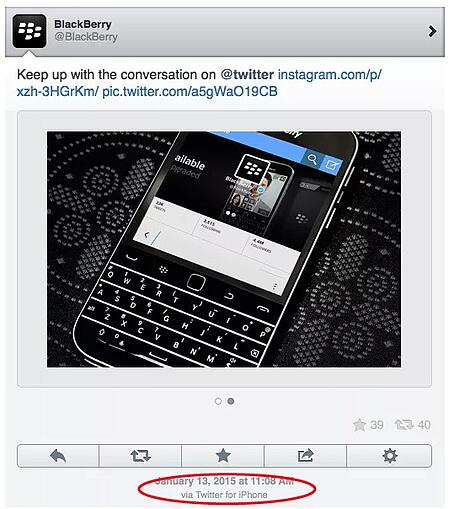 blackberry social media fail